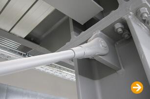 Brandschutz für Stahlzugglieder